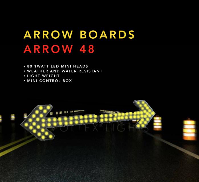 Portable Arrow Sign 48 Inch